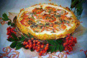 Vegetarian mushroom pie