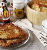 Potato flapjacks with salo