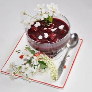 Chocolate cherry dessert