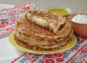Pancakes from buckwheat