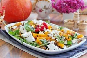 Lentil salad with pumpkin