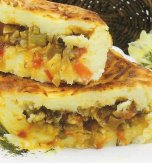 Cabbage and mushroom pie