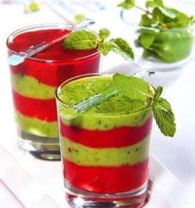 Strawberry and kiwi smoothie