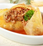 Cabbage rolls with potato and buckwheat