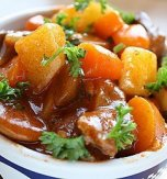 Mutton stew with vegetables