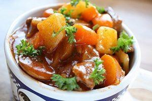 Mutton potato stew