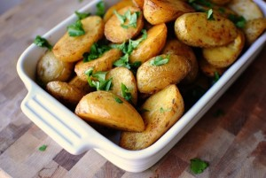 Baby potatoes with parsley