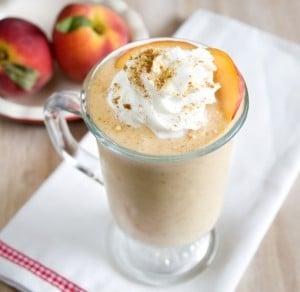 Vanilla milkshake with apricots