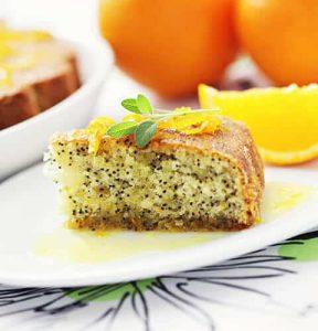 Orange and poppy seed cake