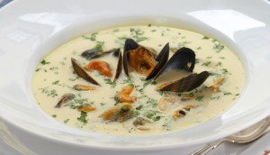 Soup with seafood
