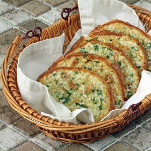 Bread with garlic and parsley