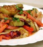 Eggplant and beans salad