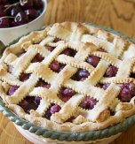 Sweet cherry pie with lattice crust