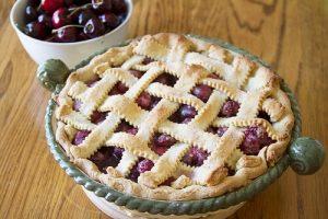 Lattice cherry pie