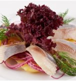 Marinated herring with new potatoes