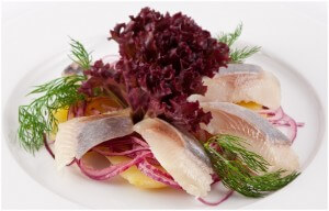 Pickled herring and potato
