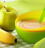 Banana apple purée