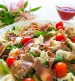 Mushroom, cheese, and ham salad