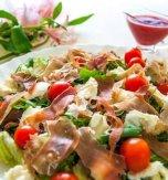 Mushroom, cheese, and ham salad