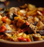 Stewed turkey with vegetables