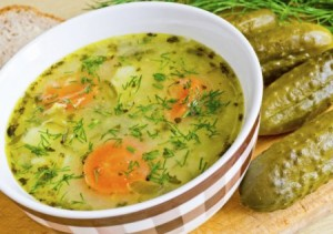 ohirochnyk (soup with pickled cucumbers)