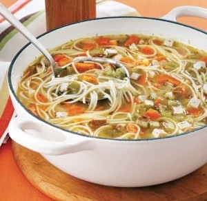 Chicken noodle veggie soup