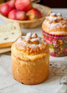 Traditional Ukrainian baked paska