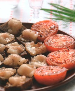 Tomatoes with parched salo
