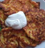 Vegetable Marrow, Cheese & Tomato Pancakes