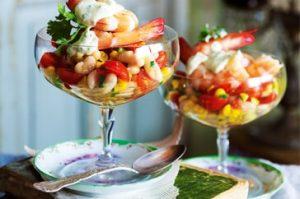 Prawn, sweetcorn and apple salad