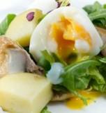 Egg, Cucumber and Smoked Mackerel Salad