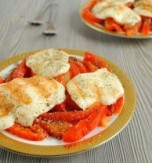 Roasted Cheese, Bell Pepper & Tomato Salad