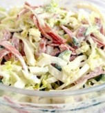 Napa Cabbage, Egg, and Ham Salad