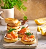 Potato and Salmon Appetizer