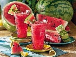 Watermelon and lemon juice