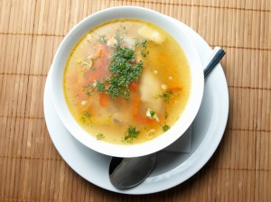 Potato and zucchini soup