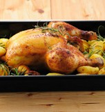 Roasted Chicken in White Wine Sauce