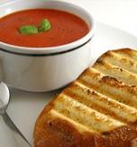 Potato Soup with Tomato Sauce