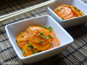 Savory carrot salad