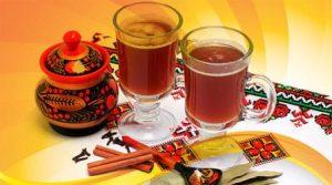 Sbiten (honey, cinnamon, ginger, and mint drink)