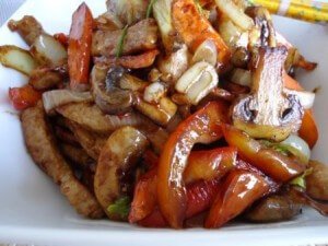 Stir-fried pork with vegetables
