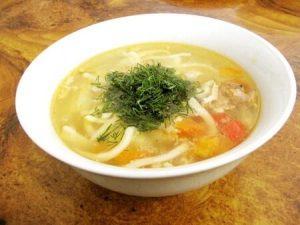 Potato and crab soup