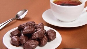 Chocolate prunes with surprise inside
