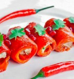 Bell Pepper Rolls with Brynza