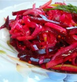 Carrot and Beetroot Salad with Lemon Oil Dressing