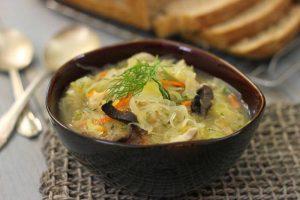 Sour cabbage soup (kapusniak)