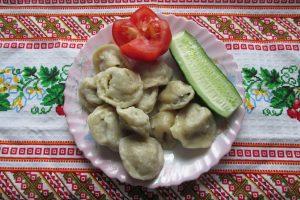 Dumplings with chicken filling