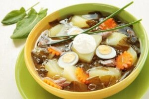 Sorrel Soup (Green Borsch)
