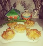 Potato and chicken muffins