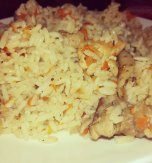 Chicken and carrot pilaf